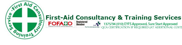Here at First Aid Consultancy and Training Services we specialise in a Paediatric First Aid Training Courses throughout Dorset